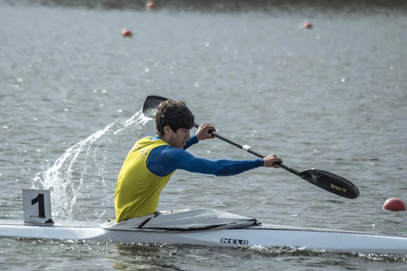 "Atleta do Vila do Conde Kayak no estágio do ""Olympic Hopes"""