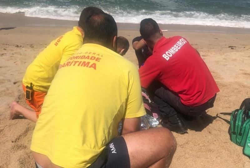 Três pessoas precisaram de assistência na praia em Vila do Conde
