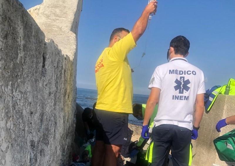 """Elementos do Projeto """"SeaWatch"""" auxiliam homem inanimado em Vila do Conde"""