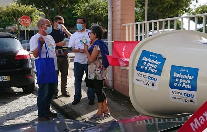 CDU em contacto direto com eleitores pelas ruas de Vila do Conde