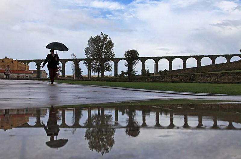 Chuva em Vila do Conde no dia daseleições