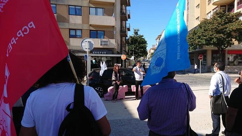 Heloísa Apolónia e Hugo Rei Amorim pelas ruas de Vila do Conde