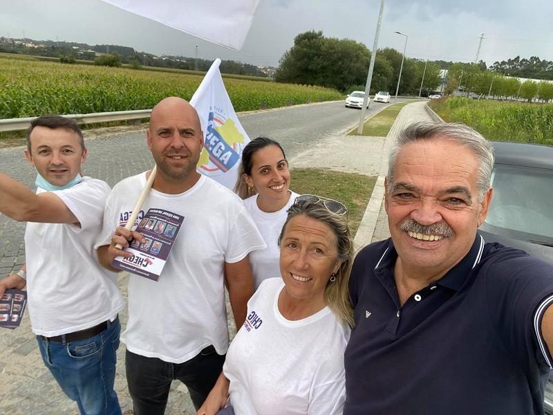 Chuva não afasta o Chega Vila do Conde da estrada