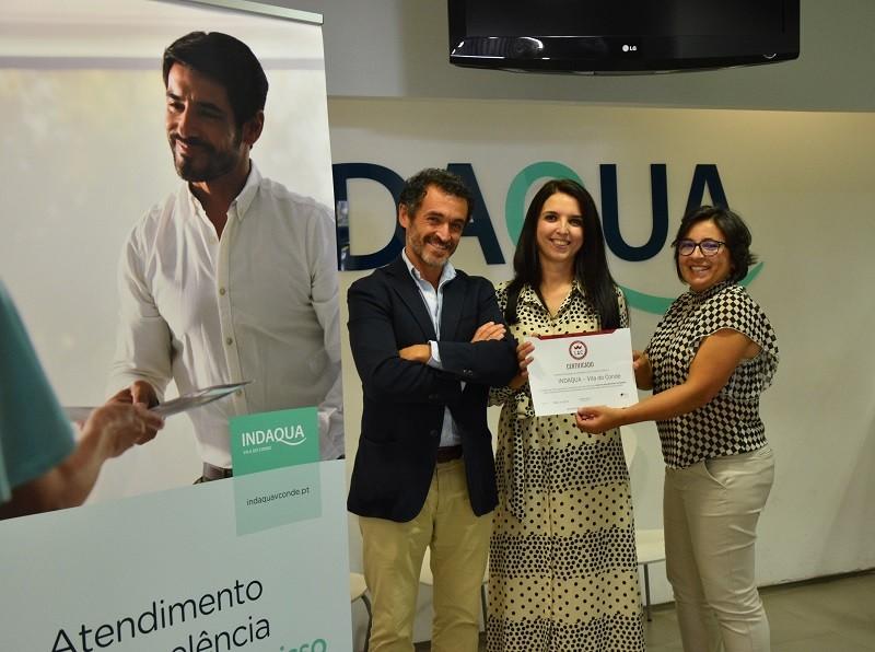 Indáqua Vila do Conde recebe certificação de Líder no Atendimento ao Cliente