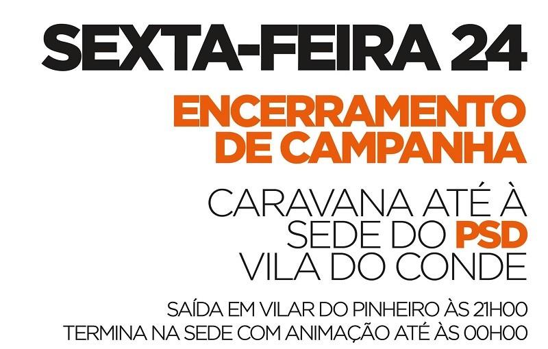 PSD de Pedro Soares em caravana de Vilar do Pinheiro a Vila do Cond