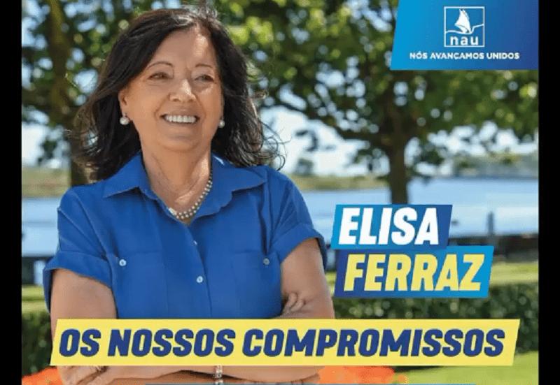 Equidade e Proporcionalidade, Seriedade e Sustentabilidade na bandeira de Elisa Ferraz
