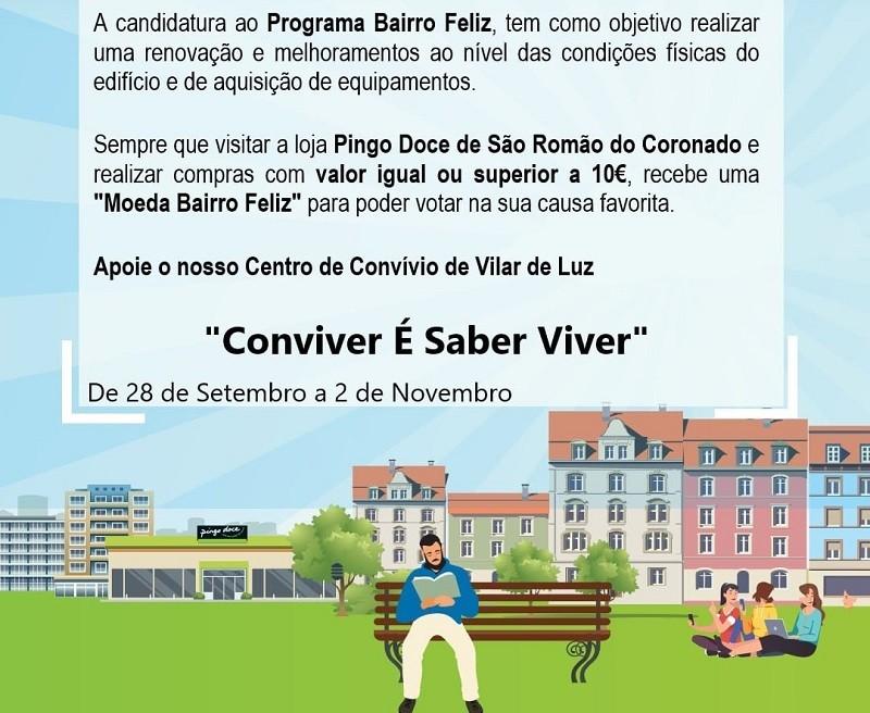Centro de Convívio de Folgosa, na Maia, candidato a 'Bairro Feliz'